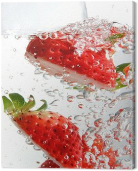 Canvas Print fizzy strawberries