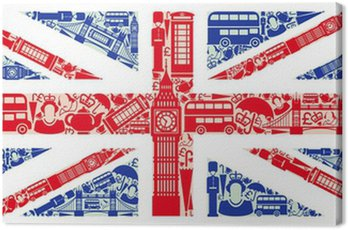 Canvas Print Flag of England from symbols of the United Kingdom and London