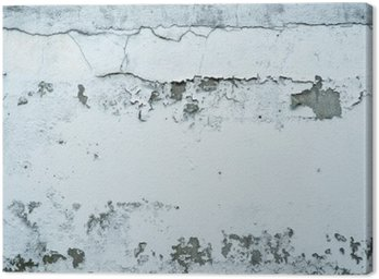 Canvas Print Flaking Paint on a Stone Wall