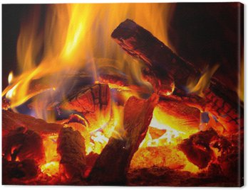 Canvas Print flame of fire