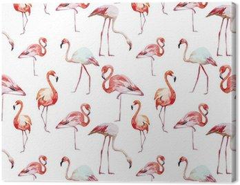 Flamingo pattern Canvas Print