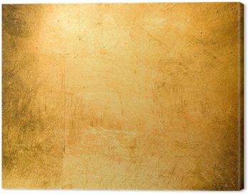 Canvas Print flat background, gilded gold leaf