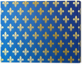Canvas Print Fleurs de lys - wallpaper