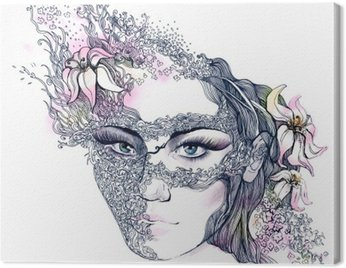 floral decorated face