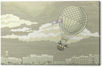 Canvas Print Flying aerostat