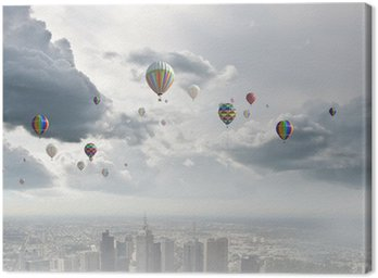 Canvas Print Flying balloons