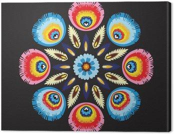 Canvas Print Folkowa rozeta, kolory