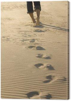 Canvas Print footprints