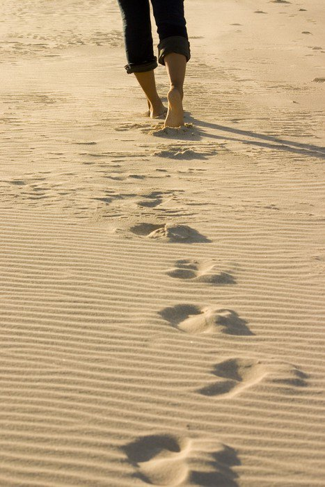 Canvas Print footprints - iStaging