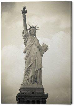 Freiheitsstatue in New York City, monochrom