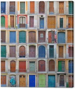 Canvas Print Front doors Barcelona, Spain - Vol 2
