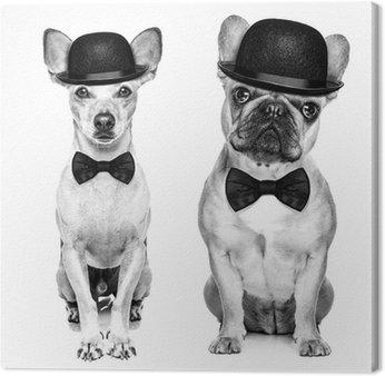 Canvas Print funny retro dog