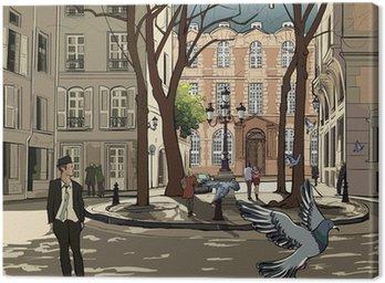 Canvas Print Furstemberg square in paris