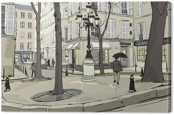 Canvas Print Furstemberg square in paris