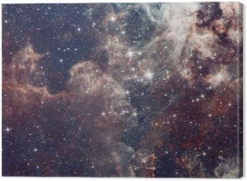 Canvas Print Galaxy illustration, space background with stars, nebula, cosmos clouds
