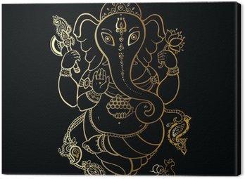 Canvas Print Ganesha Hand drawn illustration.