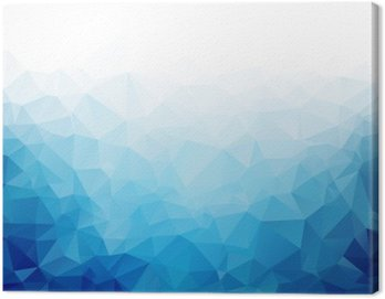 Canvas Print Geometric blue ice texture background