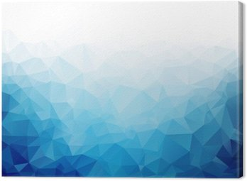 Geometric blue ice texture background Canvas Print