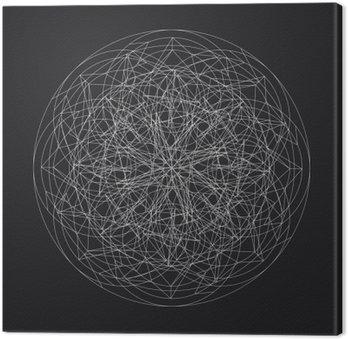 Geometric element_star pattern_vector_line design Canvas Print