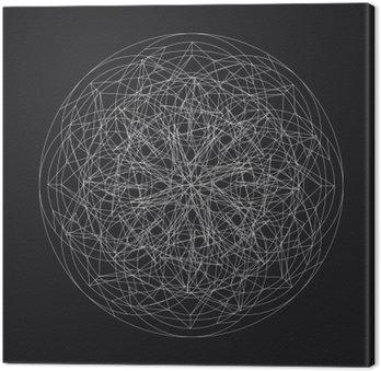 Canvas Print Geometric element_star pattern_vector_line design