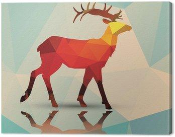 Geometric polygonal deer, pattern design, vector