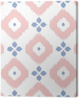 Canvas Print Geometric seamless pattern in pantone color of the year 2016. Abstract simple ikat design. Rose quartz and serenity violet colors.