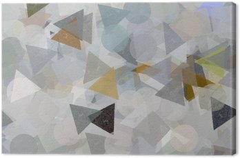 Geometric shapes illustration. Brush paint pattern. Canvas Print