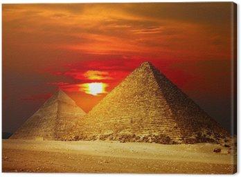 Canvas Print Giza valley