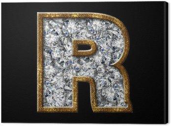 gold diamond font letter