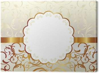 Canvas Print gold frame