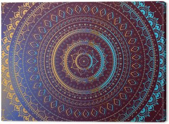 Gold Mandala. Indian decorative pattern.