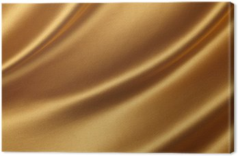 Canvas Print Gold satin Backgrounds.