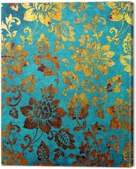 golden -blue vintage background