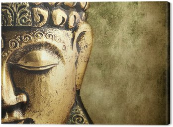 Canvas Print golden Buddha