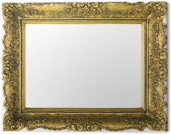Canvas Print Golden picture frame cutout