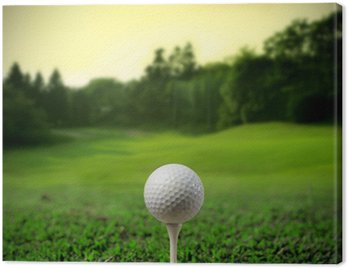 Canvas Print Golf court