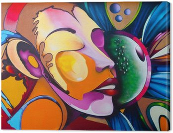 Graffiti face Canvas Print