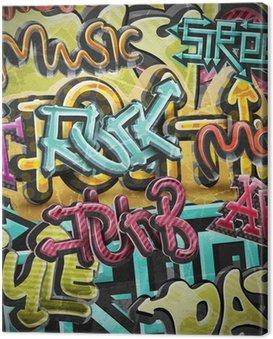 Canvas Print Graffiti grunge background