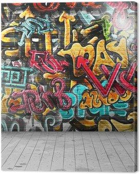 Canvas Print Graffiti on wall