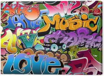 Graffiti seamless background. Hip-hop art