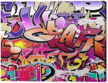 Canvas Print Graffiti seamless background. Hip-hop urban art