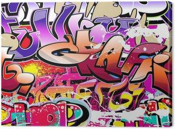 Graffiti seamless background. Hip-hop urban art Canvas Print