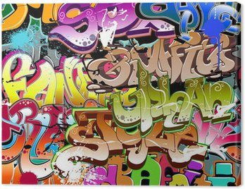 Graffiti seamless background. Urban art texture Canvas Print