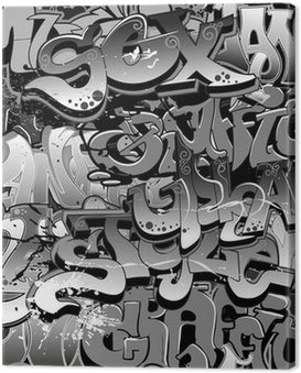 Canvas Print Graffiti seamless background. Urban art texture
