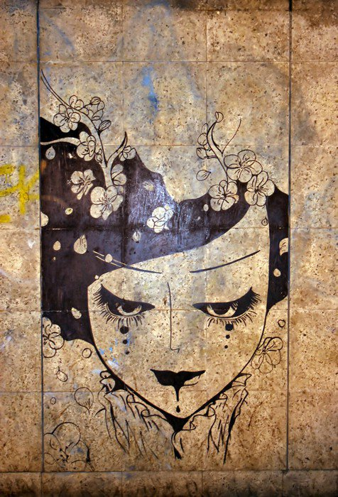 Canvas Print graffiti - street art - iStaging