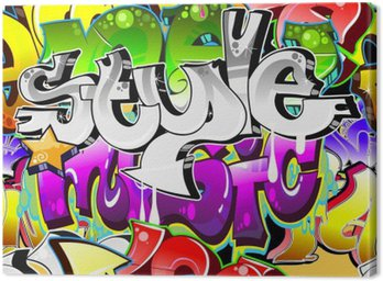 Graffiti Urban Art Background. Seamless design Canvas Print