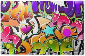 Graffiti Urban Art Background. Seamless design Canvas Print