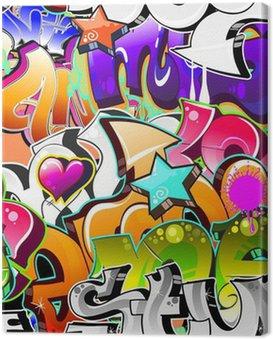 Canvas Print Graffiti Urban Art Background. Seamless design