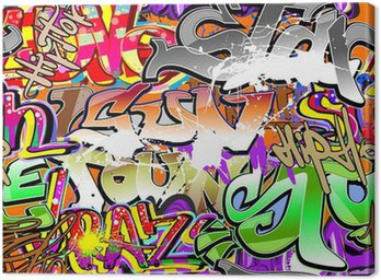 Canvas Print Graffiti urban art seamless background