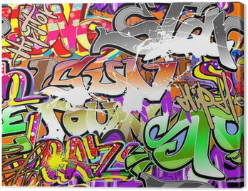 Graffiti urban art seamless background Canvas Print
